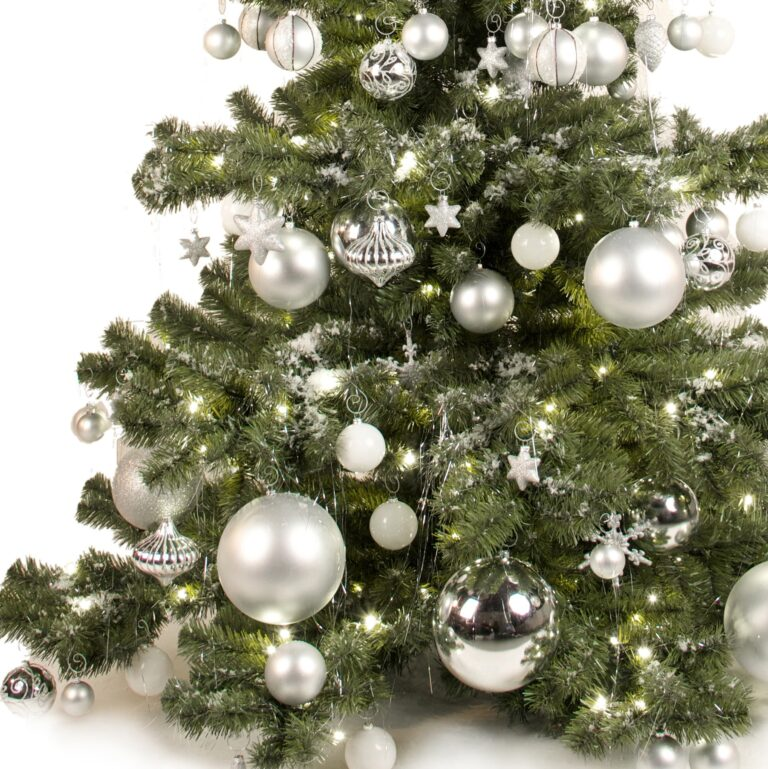 Basic Tree Bright and Silver 240cm-1643