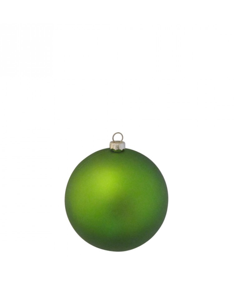 Selection of 8cm Baubles in green tones-1181