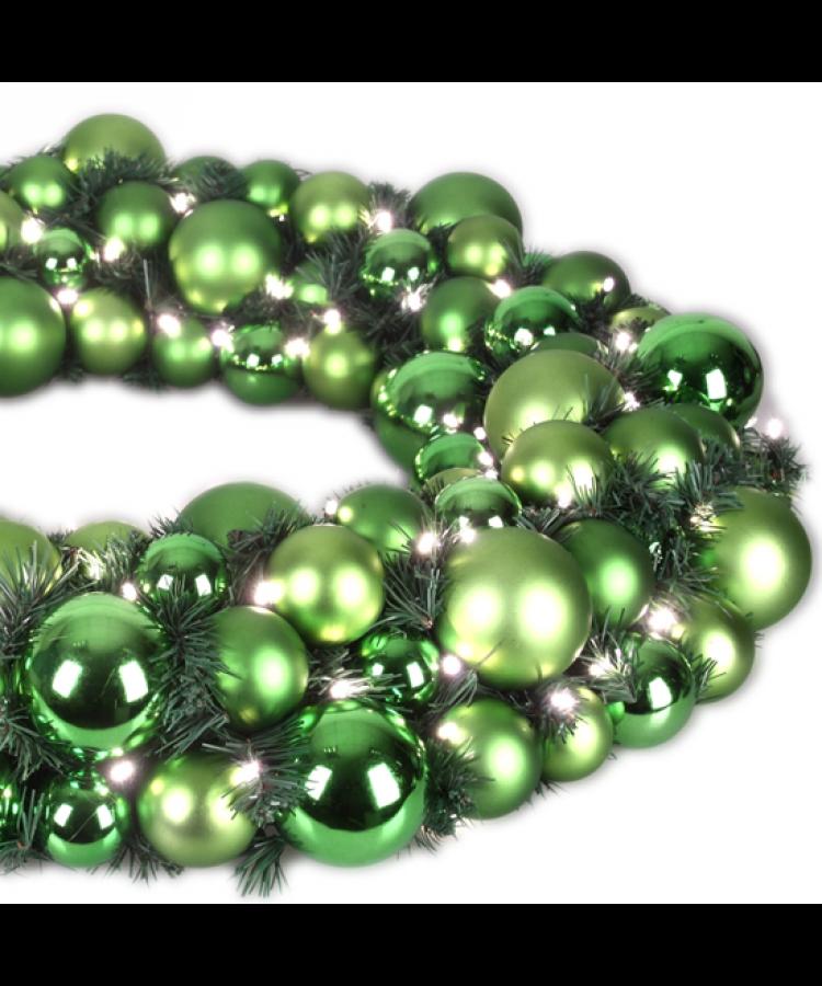 Luxury Wreath Refreshing Green 50cm-1265