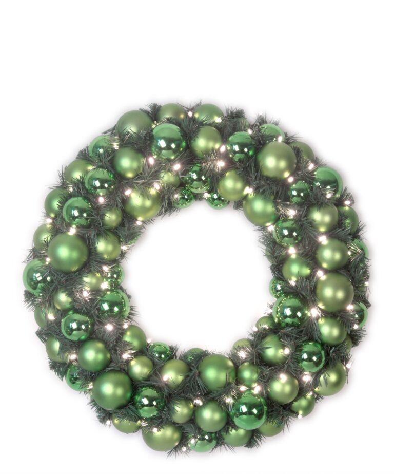 Luxury Wreath Refreshing Green 50cm-1515