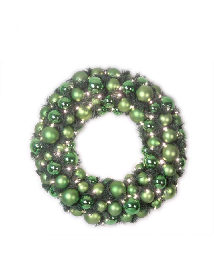 Luxury Wreath Refreshing Green 50cm-0