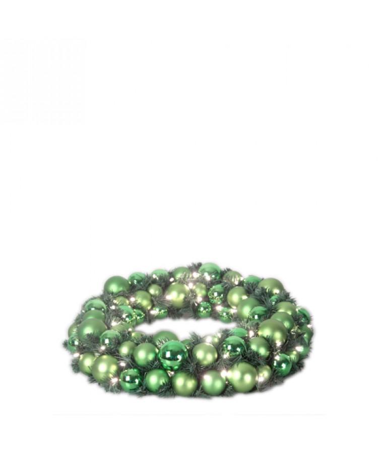 Luxury Wreath Refreshing Green 50cm-1264