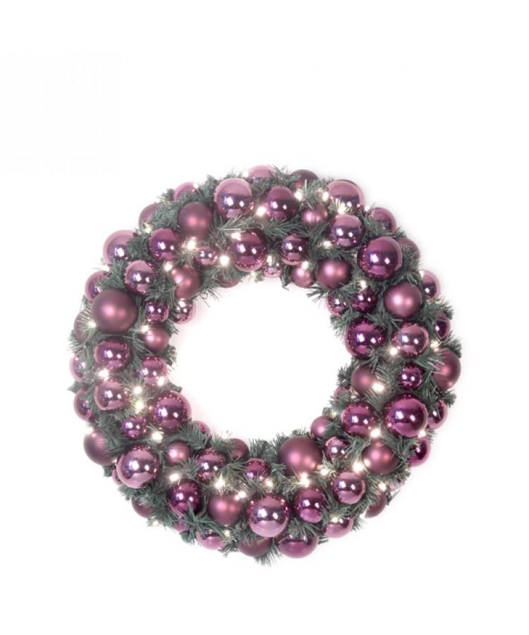 Luxury Wreath Warm Milka 50cm-0