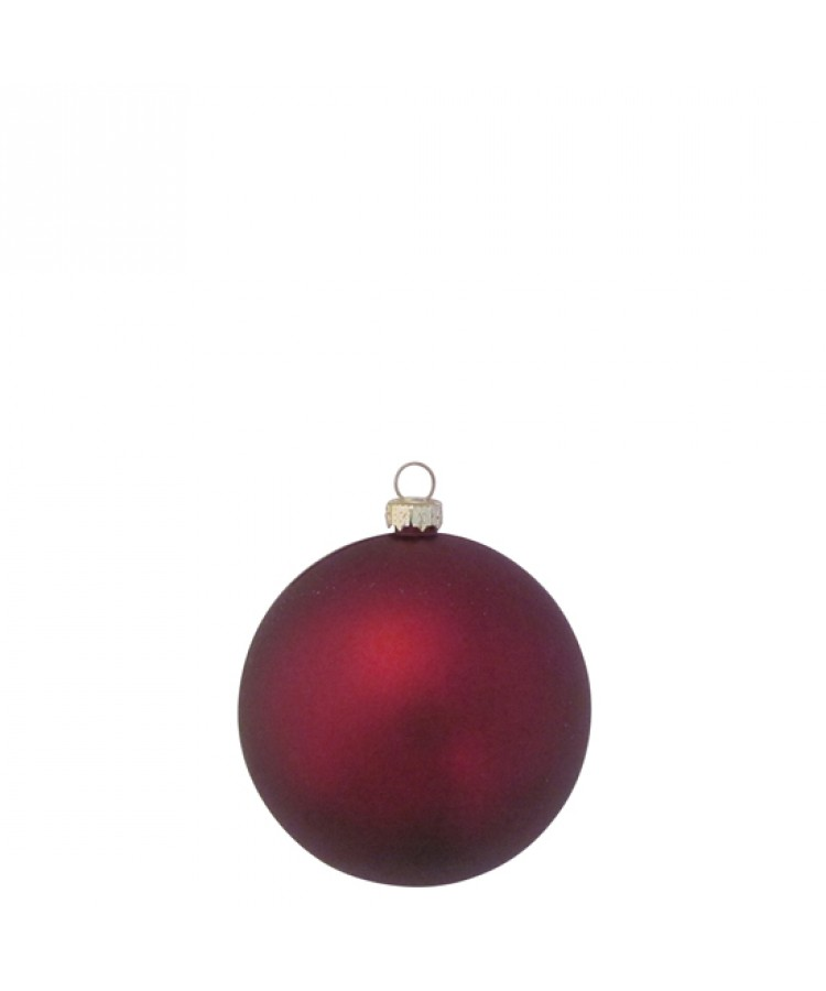 Selection of 8cm Baubles in red tones-1190