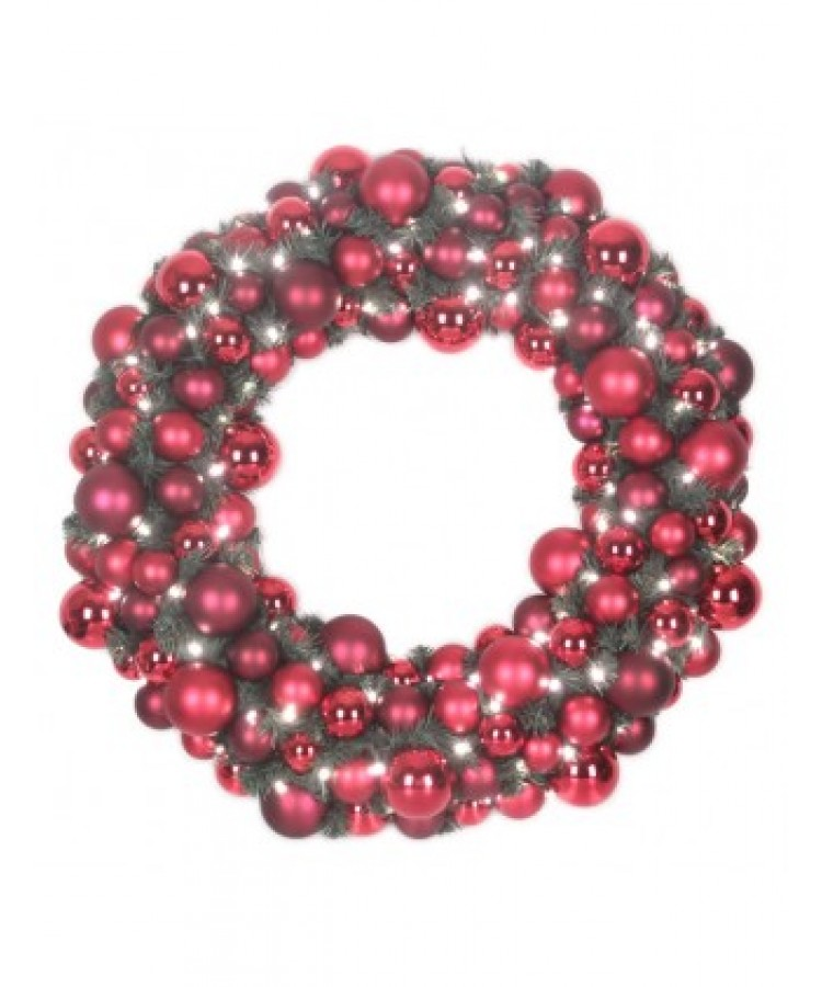 Luxury Wreath Warm Bordeaux 75cm-0