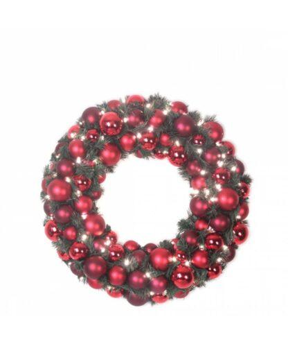 Luxury Wreath Warm Bordeaux 50cm-0