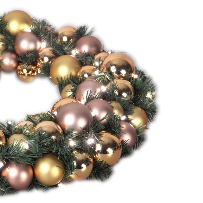 Luxury Wreath Golden Mocca 50 cm-1534