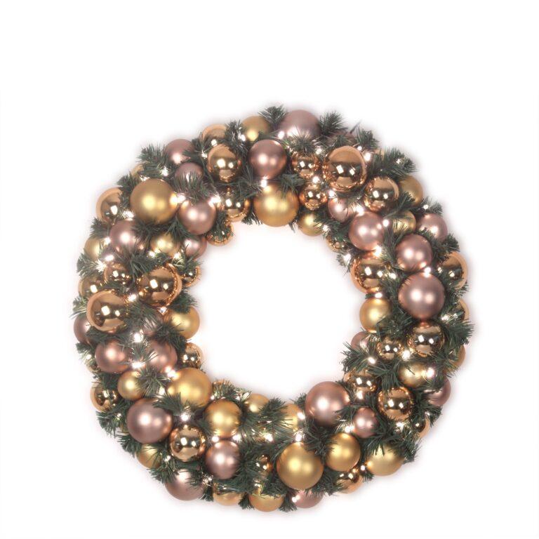 Luxury Wreath Golden Mocca 50 cm-0